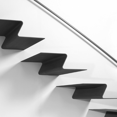 Folded Plate Staircase Architectural Stairs Stairs In